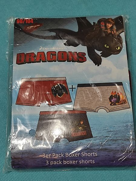 Набор трусов боксёров Disney 3-4 года повелитель драконов