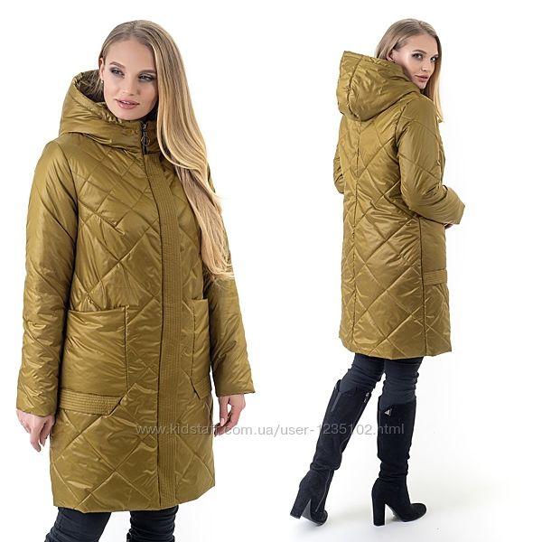 Весна 2021. Женское демисезонное пальто, куртка с капюшоном. Размеры 46-70