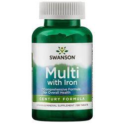 Мультивитамины с железом 130 таблеток, США,  1 таблетка в день