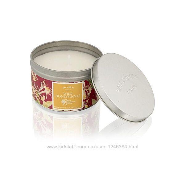 Изысканная арома-свеча в жестяной банке Wax Lyrical аромат цветов