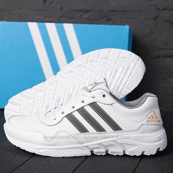 Мужские кожаные кроссовки Adidas Tech Flex White