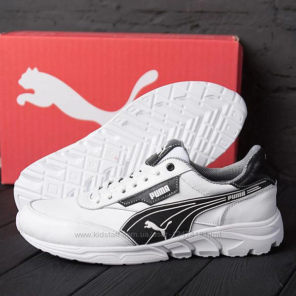 Мужские кожаные кроссовки Puma White 10-2