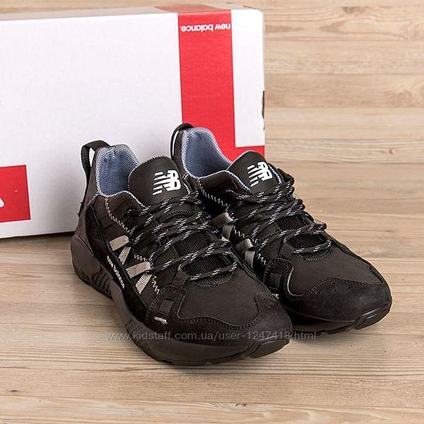 Мужские кожаные кроссовки New Balance Black