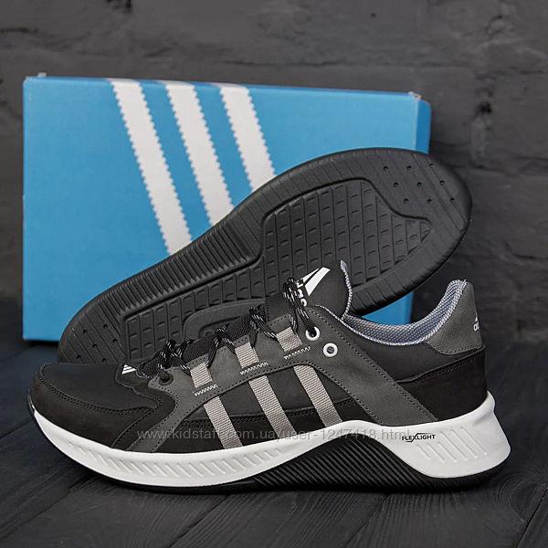 Мужские кожаные кроссовки Adidas Terrex Grey 2153