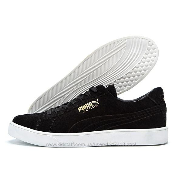 Мужские кожаные кроссовки Puma Smash Suede Black