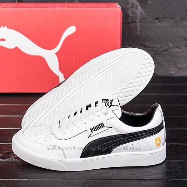 Мужские кожаные кроссовки Puma Ferrari White
