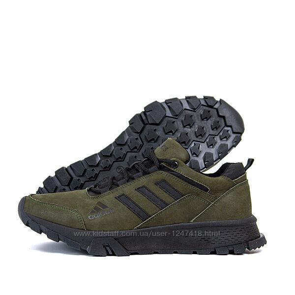 Мужские кожаные кроссовки Adidas Terrex Green a-111х
