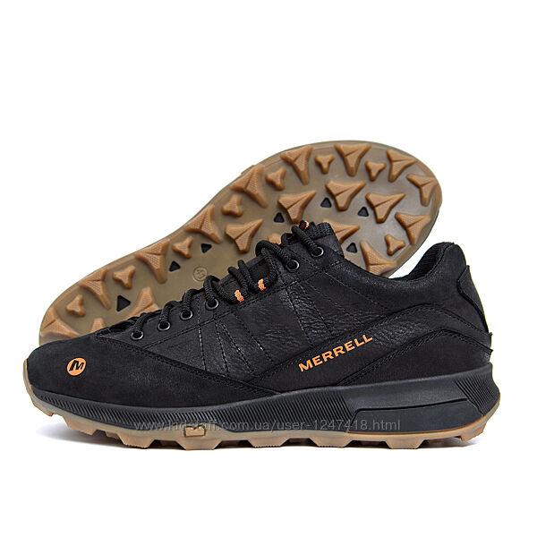 Мужские кожаные кроссовки MERRELL Black М-05ч