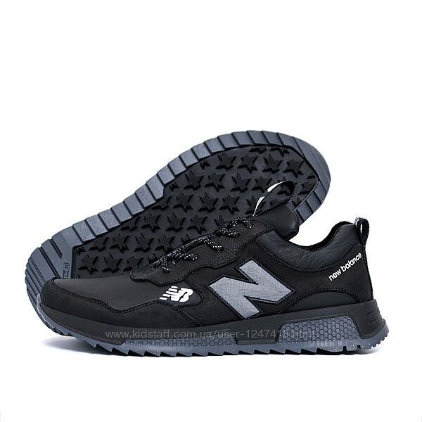 Мужские кожаные кроссовки New Balance Black 238 сер