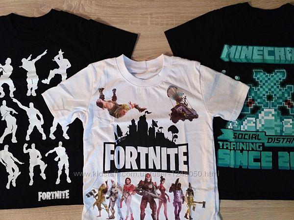 Футболки Fortnite, Minecraft р.134-164
