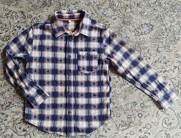 Рубашка для мальчика/ M&S/ 7-9 лет