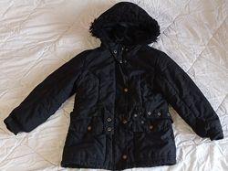 Деми куртка удлиненная Marks&Spencer, р. 128 на 7-8 лет, девочке