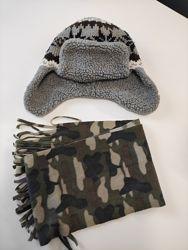 Зимняя шапка ушанка Next 11-12 лет.