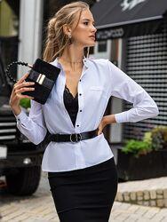 Стильная белая блузка, рубашка