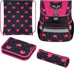 Рюкзак HERLITZ Loop Plus Plus Black Cat 4 предмета