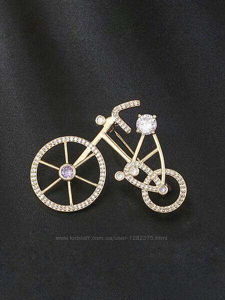 Брошь велосипедик