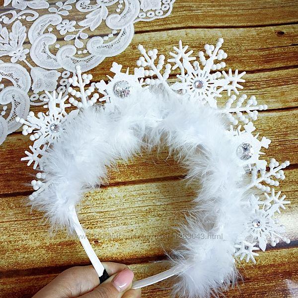 Обруч снежинки снегурочки