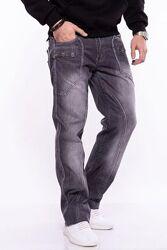 Прямые, базовые, классические серые джинсы