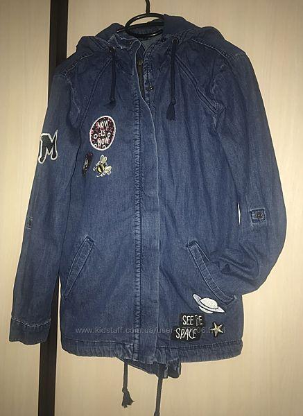 Куртка ветровка джинсовая lc waikiki на 158-164р. или хс