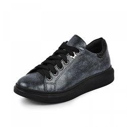 Кожаные кроссовки Марле графит флотар Maxus 1102291