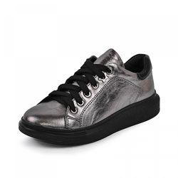 Кожаные кроссовки Марле Maxus 1102290 никель