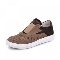 Кожаные кроссовки с перфорацией Стар Maxus 1101269