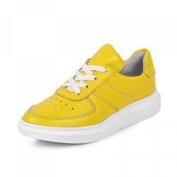 Кожаные кроссовки Maxus 1964 желтые