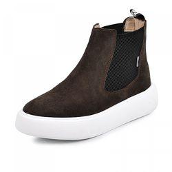 Кожаные ботинки Челси 2 коричневый замш
