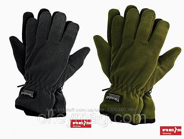 Зимние перчатки THINSULPOL олива черные.