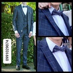 Костюм свадебный, пиджак, брюки, жилет, рубашка, бабочка
