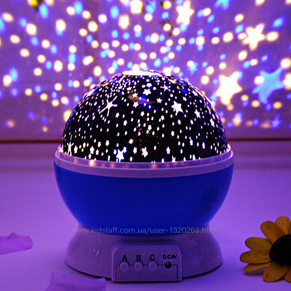 Ночник проектор звездное небо Star Master Dream, вращающийся
