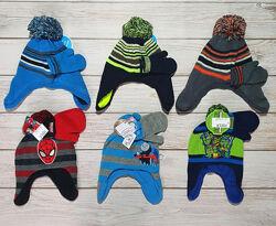 Комплект деми шапка и варежки на мальчика Childrens place 6мес-3года