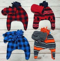 Набор флисовая шапка и варежки на мальчика Childrens place 6мес-3года