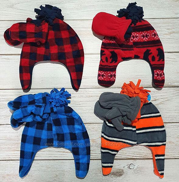 Флисовая шапка и варежки на мальчика Childrens place 6м-3года 120-160грн