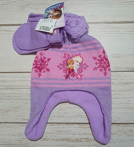 Набор шапка и варежки Холодное сердце Эльза Childrens place 6мес-3Т