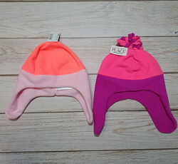 Флисовая шапка с липучками на девочку Childrens place 0-2года