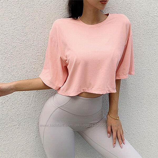 Короткая спортивная футболка, Great Free, свободный крой