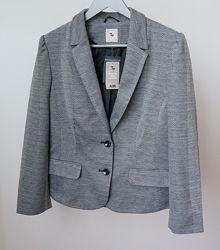 Красивый серый пиджак жакет tu размер 16