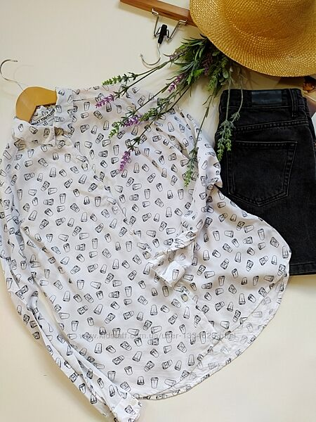 Шикарная базовая блуза рубашка reserved размер xs