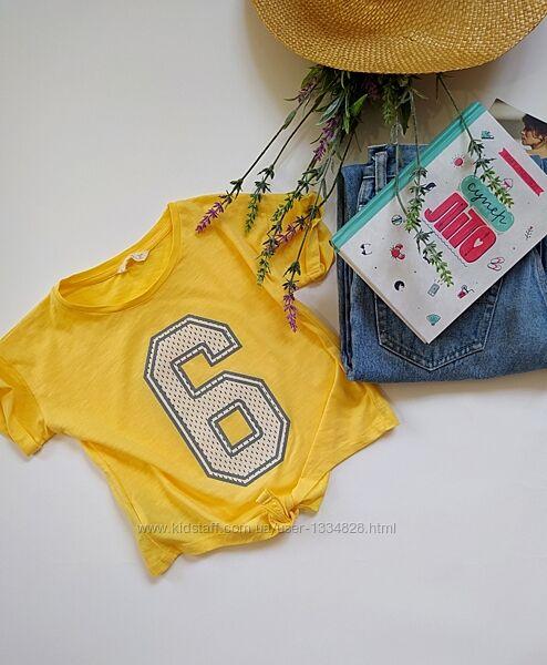 Хулиганская майка футболка кроп mango размер 116-122