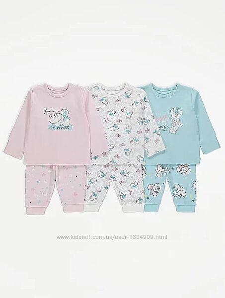 Пижамы для девочки 86-92 плотный хлопок с Минни Маус