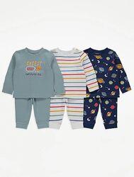 Пижамы хлопок на мальчика 1,5-3 года George