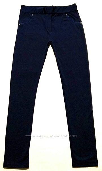 Лосины однотонные, имитация под брюки, рост 116-146. Турция.
