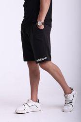 Шорты чёрные с белым логотипом Adidas