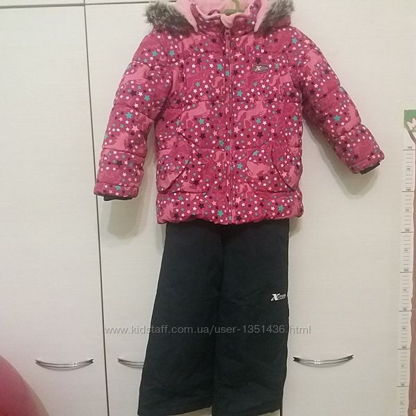 Зимний комплект Gusti, куртка и полукомбинезон р. 104