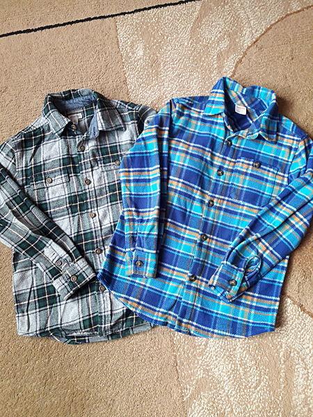 Тёплые рубашки Джимбори рост 122-128см