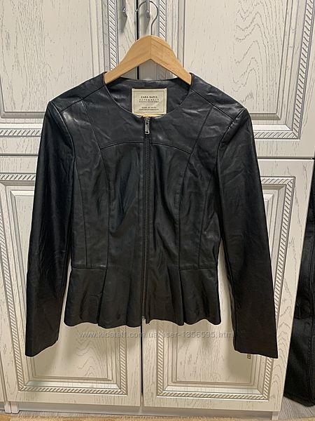 Кожаная куртка zara, кожанка zara