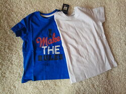 Набор футболок lupilu на мальчика, р. 98/104, 110/116. Состав 100 хлопок