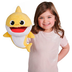 Интерактивная мягкая игрушка на руку Baby Shark  Малыш Акуленок. Новая