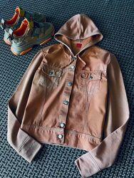 Хитовая винтажная терракотовая джинсовка худи куртка варёнка Esprit.